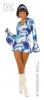 Preview: 70erFlowerpower-Minikleid Blau